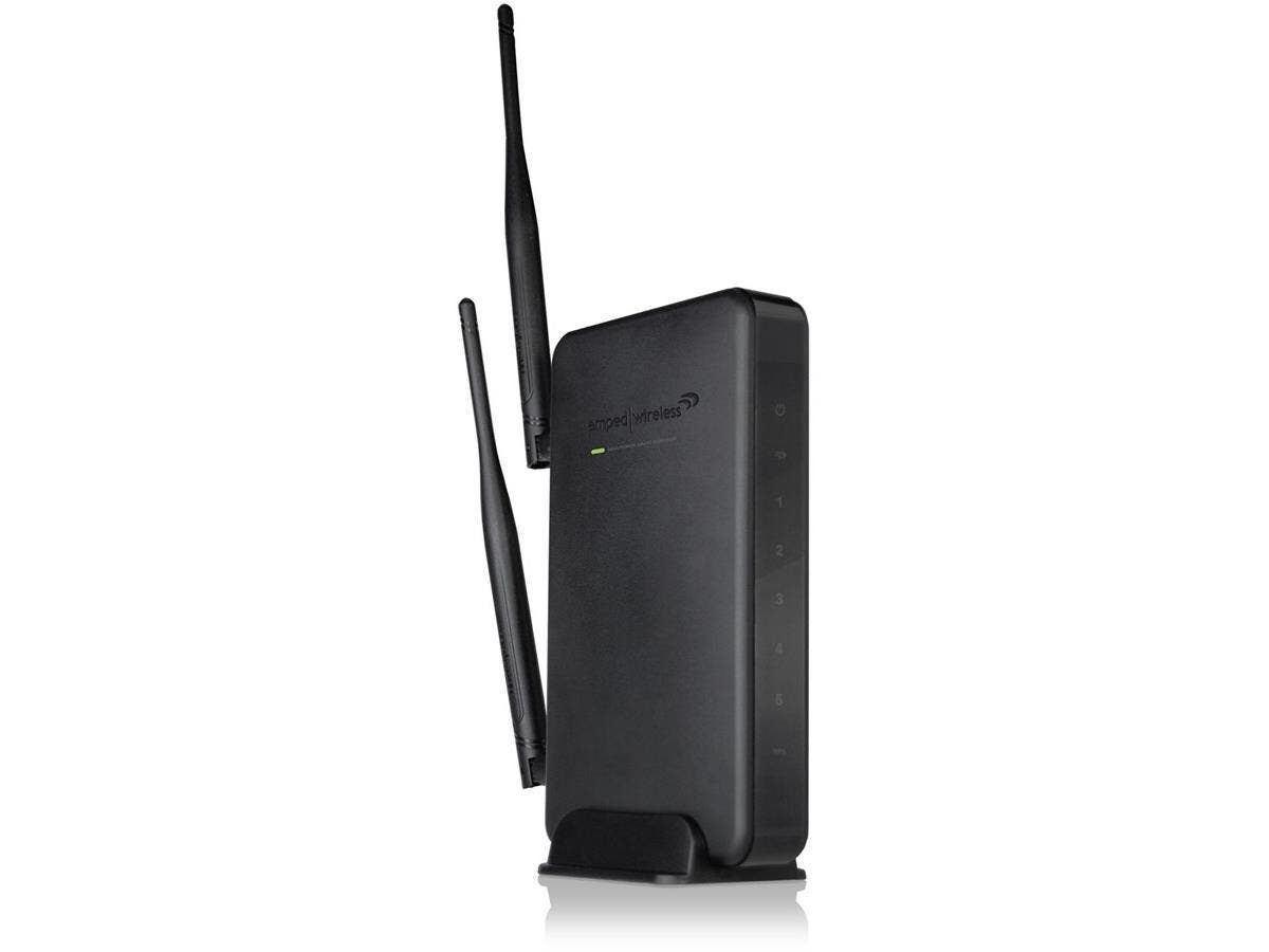 Amped Wireless SR10000 High Power Wireless-N 600mW Smart Repeater - Universal Range Extender 10,000 sq ft WiFi Coverage, 5 x 10/100 Ports, 802.11n