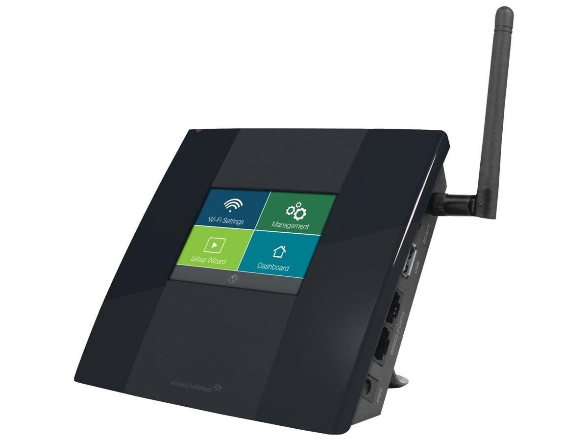 Amped Wireless TAP-EX High Power Touch Screen Wi-Fi Range Extender - Touch Screen Setup, Extreme Range, Compact, High Power Amplifiers, Detachable High Gain Antenna, 10,000 sq ft of Coverage, Universa-Large-Image-1