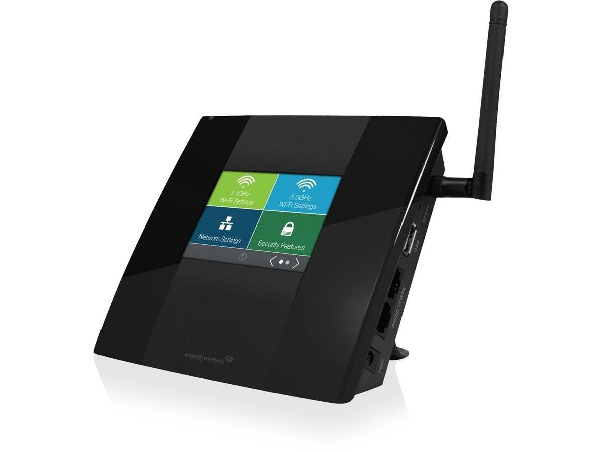 Amped Wireless TAP-R2 IEEE 802.11ac Ethernet Wireless Router - 2.40 GHz ISM Band - 5 GHz UNII Band - 2 x Antenna(1 x Internal/1 x External) - 750 Mbit/s Wireless Speed - 2 x Network Port - 1 x Broadba-Large-Image-1