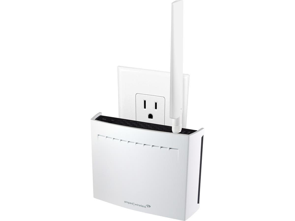 Amped Wireless REC33A IEEE 802.11ac 1.71 Gbit/s Wireless Range Extender - ISM Band - UNII Band - 2.40 GHz, 5 GHz - 3 x Antenna(s) - 2 x Internal Antenna(s) - 1 x External Antenna(s) - 1 x Network (RJ-