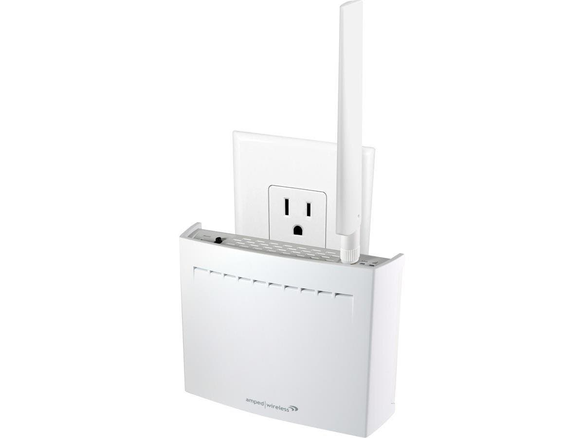 Amped Wireless REC22A IEEE 802.11ac 1.17 Gbit/s Wireless Range Extender - 2.40 GHz, 5 GHz - 2 x Antenna(s) - 1 x Internal Antenna(s) - 1 x External Antenna(s) - 1 x Network (RJ-45) - Power Supply - Wa-Large-Image-1