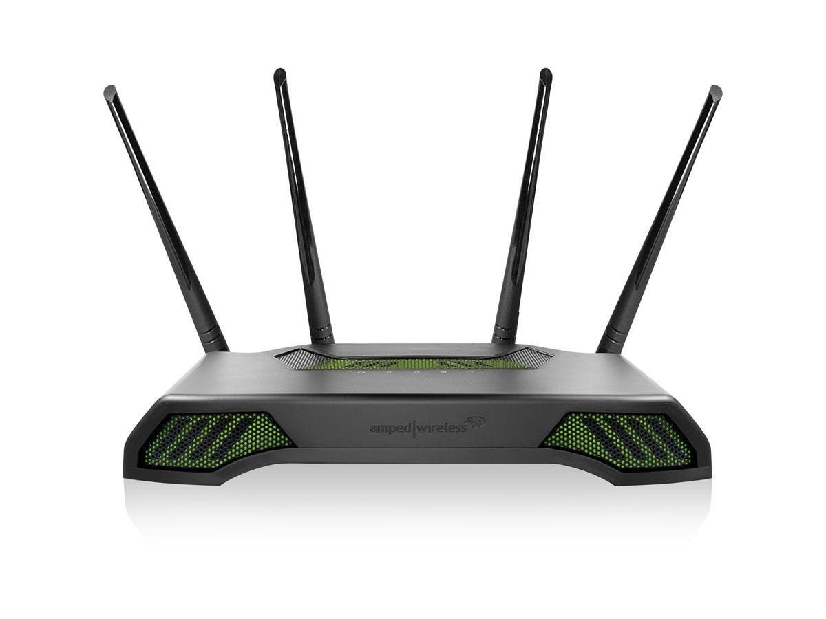 Amped Wireless TITAN RTA1900 IEEE 802.11ac Ethernet Wireless Router - 2.40 GHz ISM Band - 5 GHz UNII Band(4 x External) - 1900 Mbit/s Wireless Speed - 4 x Network Port - 1 x Broadband Port - USB - Gig