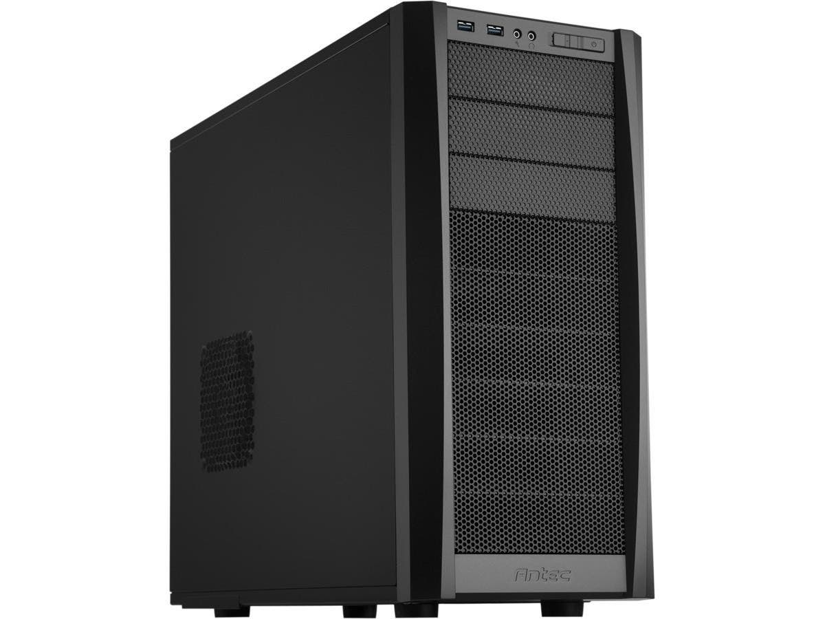 Antec Three Hundred Two System Cabinet - Tower - Black - 11 x Bay - 2 x Fan(s) Installed - ATX, µATX, Mini ITX Motherboard Supported - 15.30 lb - 6 x Fan(s) Supported