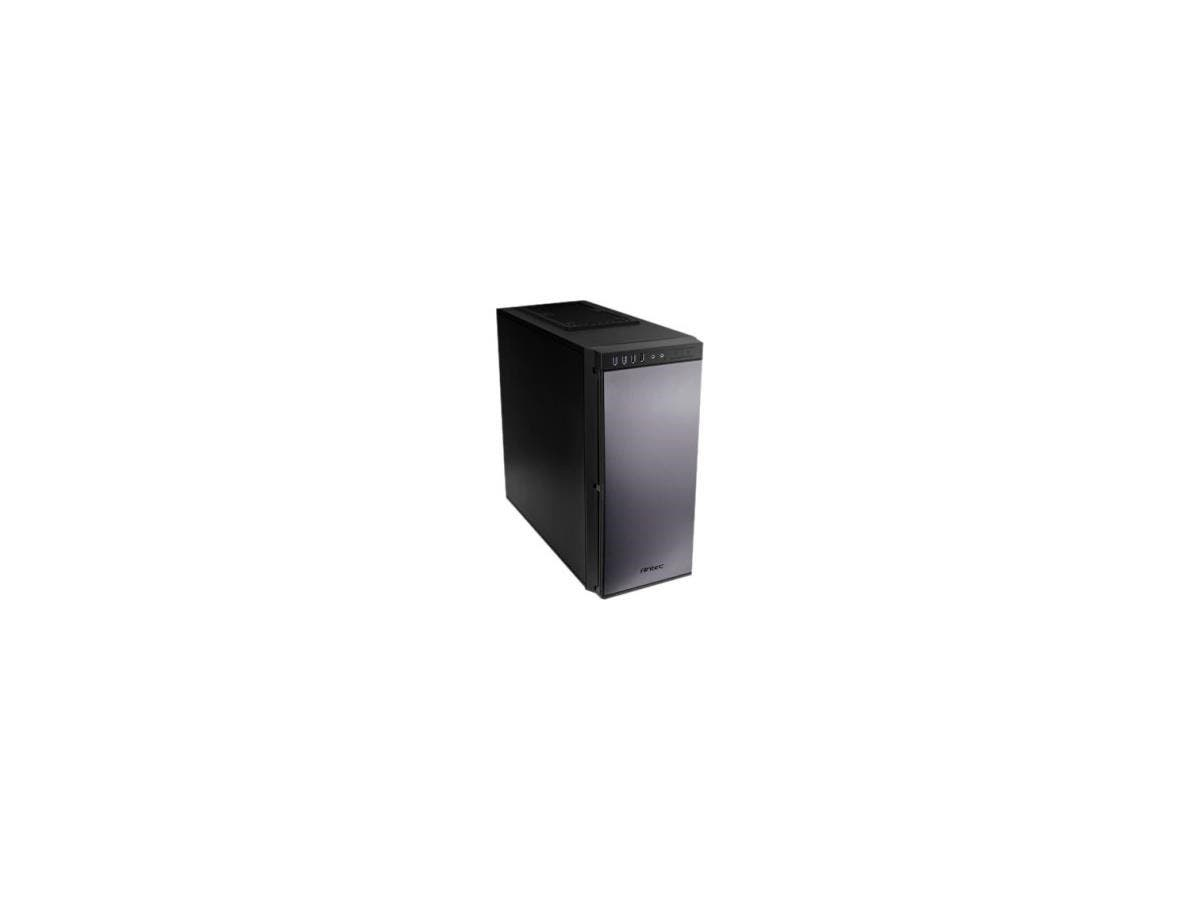 "Antec P100 Performance One Series - Mid-tower - Black - Steel, Foam - 9 x Bay - 2 x 4.72"" x Fan(s) Installed - 0 - ATX, Mini ITX, Micro ATX Motherboard Supported - 5 x Fan(s) Supported-Large-Image-1"