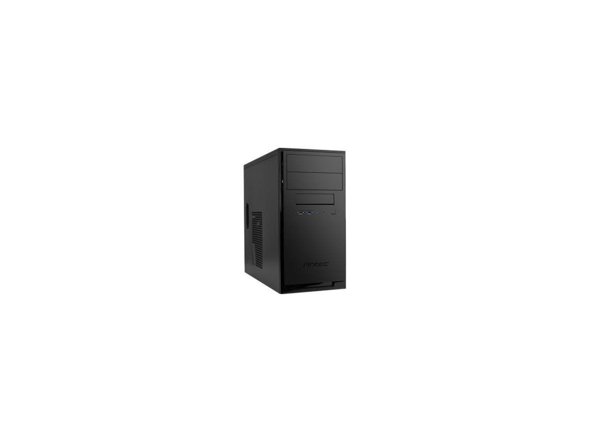 "Antec NSK3180 Computer Case - Matte Black - Steel - 6 x Bay - 1 x 3.62"" x Fan(s) Installed - 1 x 380 W - Power Supply Installed - Micro ATX, Mini ITX Motherboard Supported - 14.90 lb-Large-Image-1"