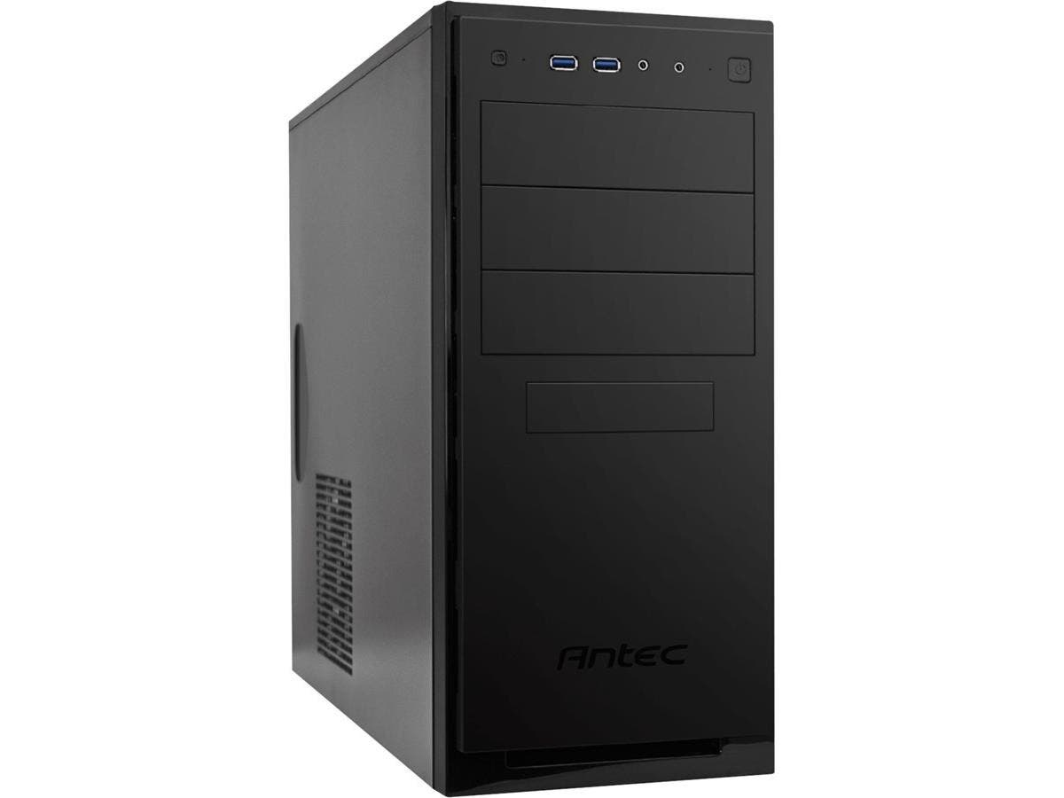 "Antec NSK4100 Computer Case - Mid-tower - Black - Steel, Plastic - 11 x Bay - 1 x 4.72"" x Fan(s) Installed - 0 - ATX, Micro ATX, Mini ITX Motherboard Supported - 11.40 lb -Large-Image-1"