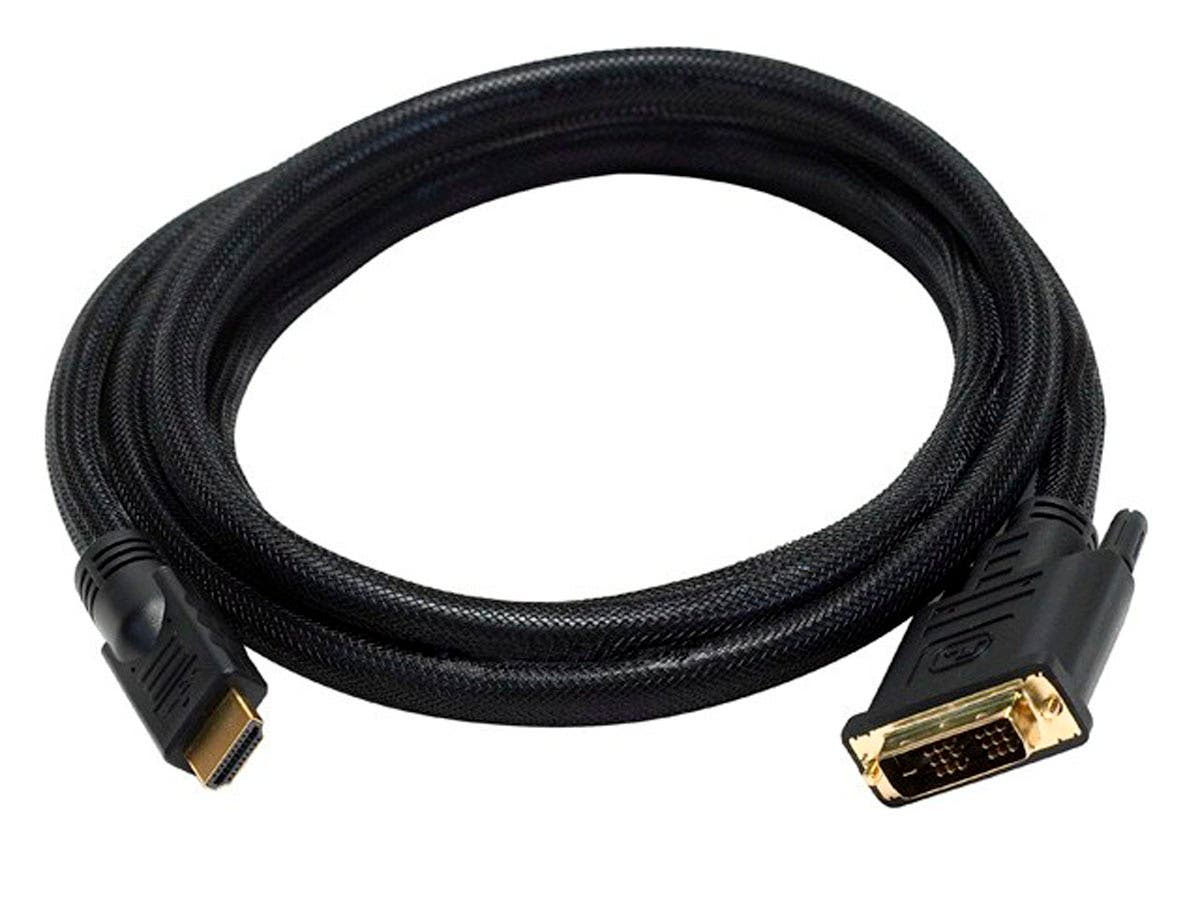 6ft 24AWG CL2 High Speed HDMI to DVI Adapter Cable with Net Jacket, Black