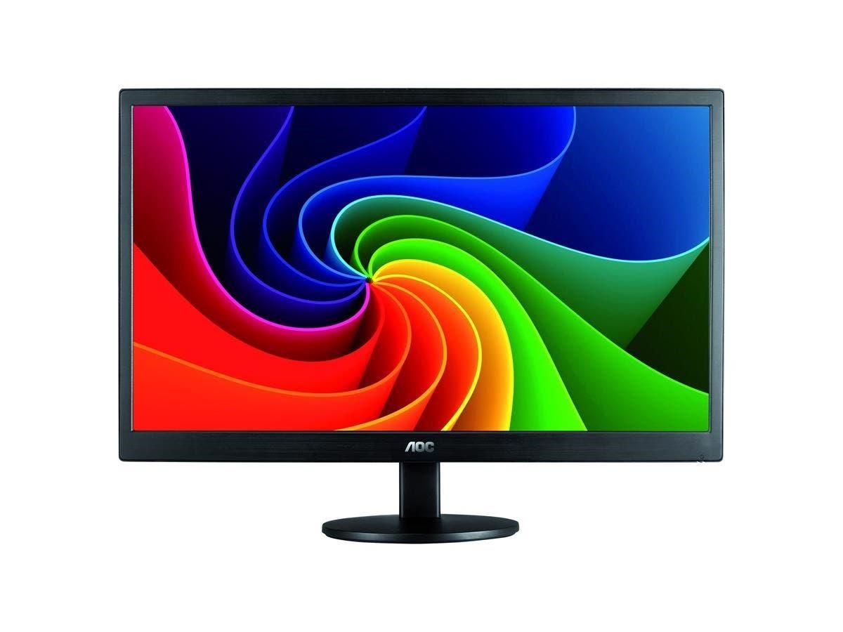 "AOC E970SWN 18.5"" LED LCD Monitor - 16:9 - 5 ms - Adjustable Display Angle - 1366 x 768 - 16.7 Million Colors - 200 Nit - 700:1 - WXGA - VGA - 15 W - Black - RoHS, ENERGY STAR 6.0-Large-Image-1"