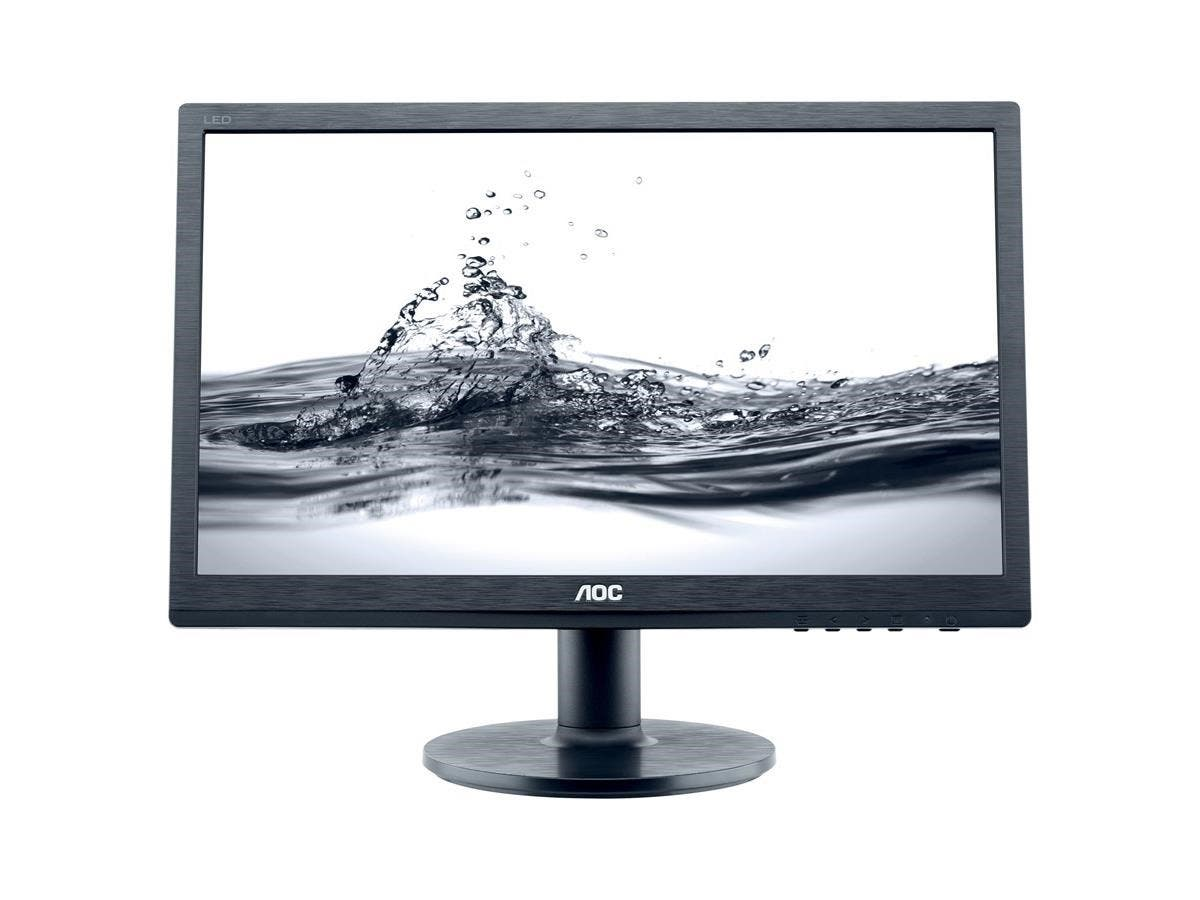 "AOC Professional e2060Swda 19.5"" LED LCD Monitor - 16:9 - 5 ms - Adjustable Display Angle - 1600 x 900 - 16.7 Million Colors - 220 Nit - 20,000,000:1 - HD+ - Speakers - DVI - VGA - 18 W - Black"