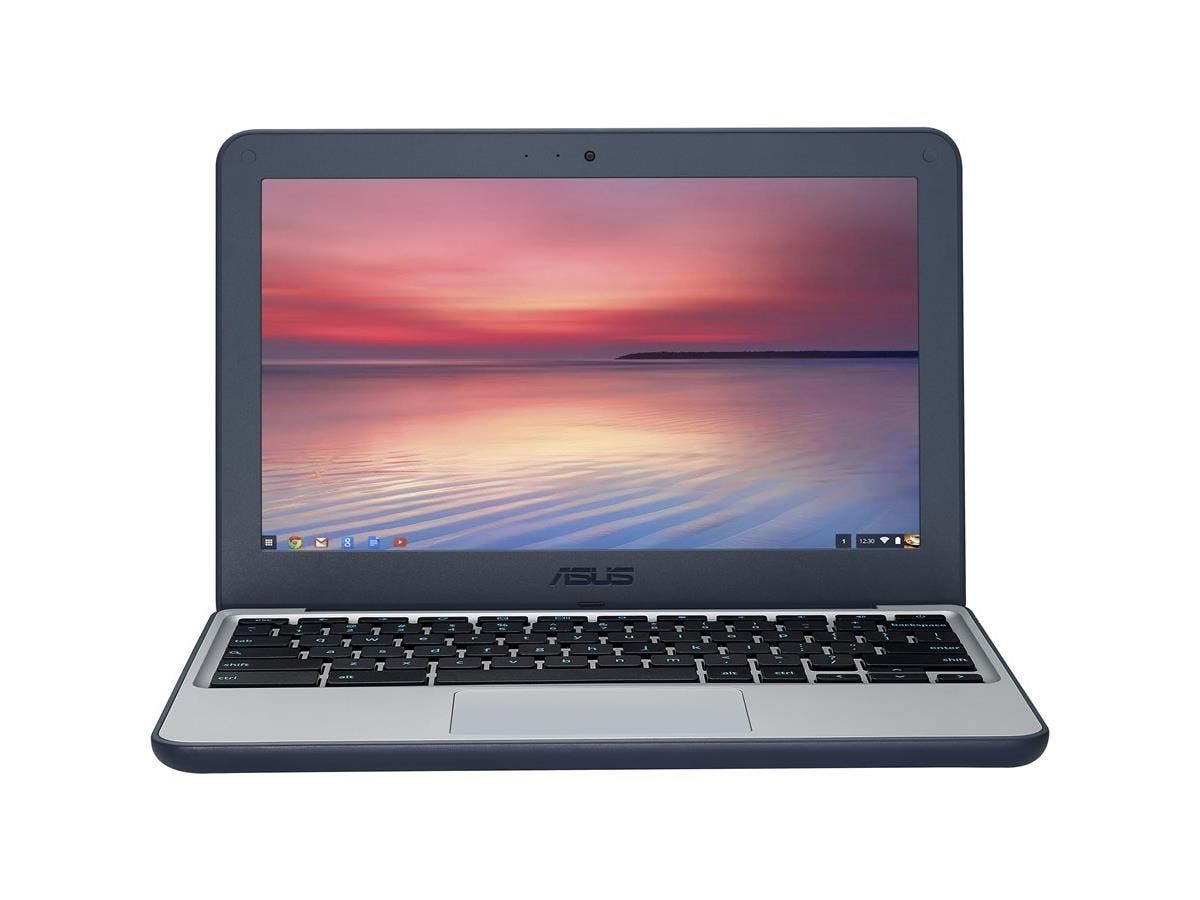 "Asus Chromebook C202SA-YS02 11.6"" Chromebook - Intel Celeron N3060 Dual-core (2 Core) 1.60 GHz - 4 GB LPDDR3 RAM - 16 GB Flash Memory Capacity - Intel HD Graphics 400 - Chrome OS - 1366 x 768 -Large-Image-1"