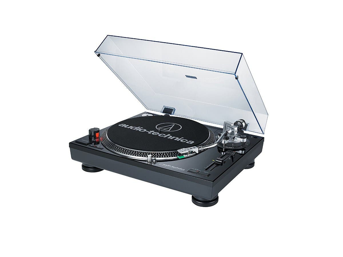 Audio Technica AT-LP120BK-USB Direct-Drive Professional Turntable (USB & Analog) - Black