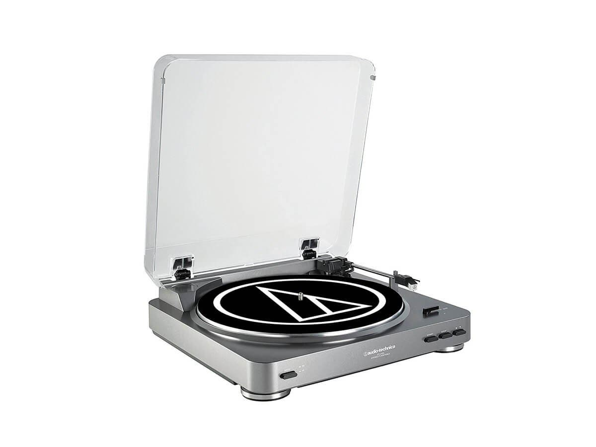 Audio Technica AT-LP60 Fully Automatic Stereo Turntable System - Silver -Large-Image-1