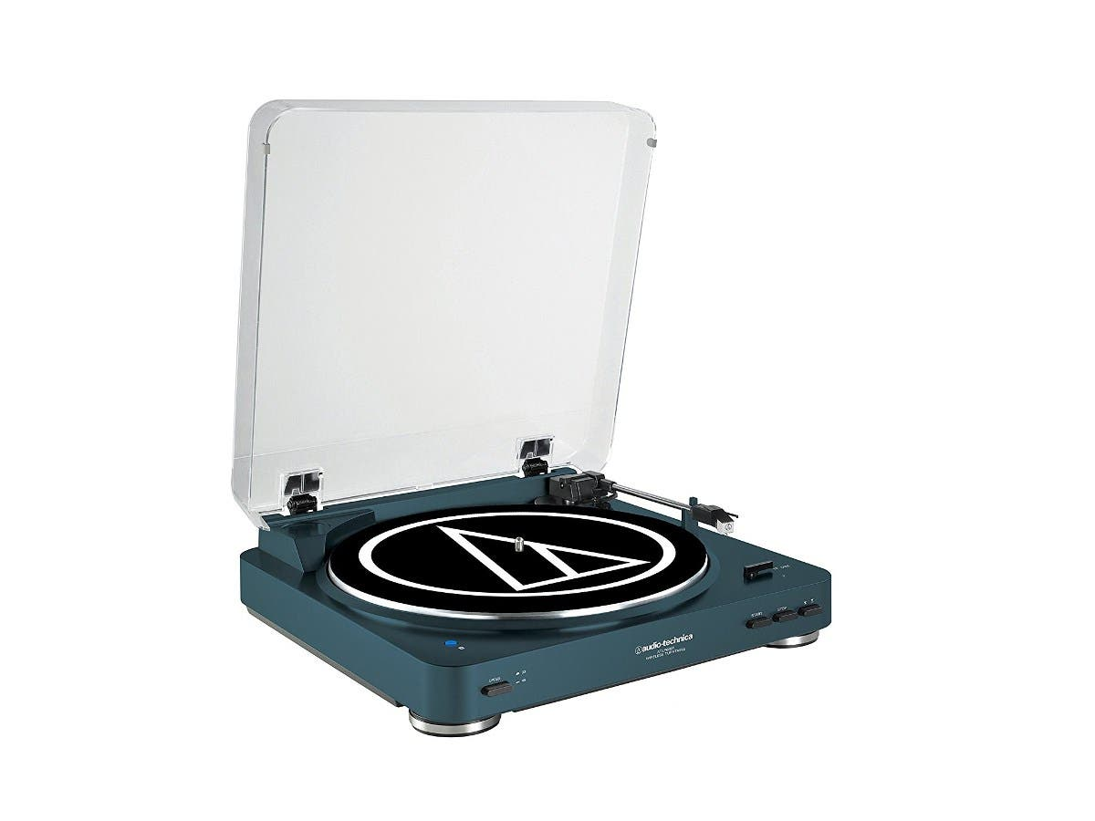 Audio Technica AT-LP60NV-BT Fully Automatic Bluetooth Wireless Belt-Drive Stereo Turntable - Navy