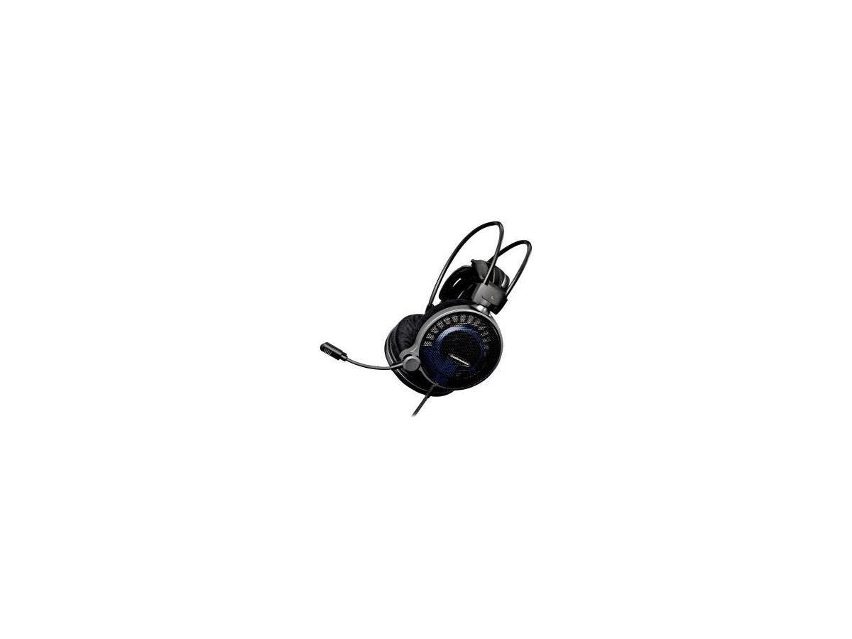 Audio-Technica ATH-ADG1X High-Fidelity Gaming Headset - Stereo - Black, Blue - Mini-phone - Wired - 48 Ohm - 5 Hz - 35 kHz - Gold Plated - Over-the-head - Binaural - Circumaural