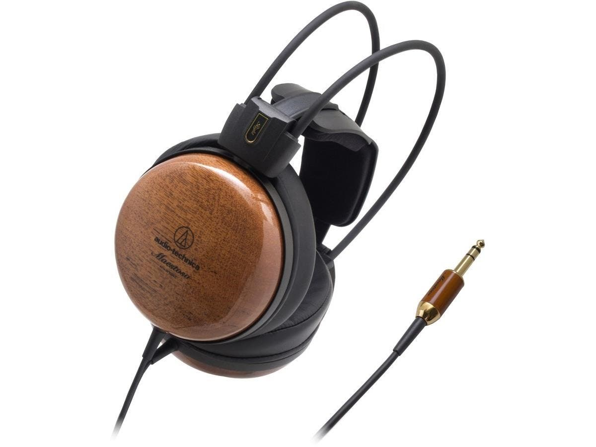 Audio-Technica ATH-W1000Z Audiophile Closed-back Dynamic Wooden Headphones - Stereo - Brown - Phono - Wired - 43 Ohm - 5 Hz 42 kHz - Gold Plated - Over-the-head - Binaural - Circumaural - 9.84 ft Cabl-Large-Image-1