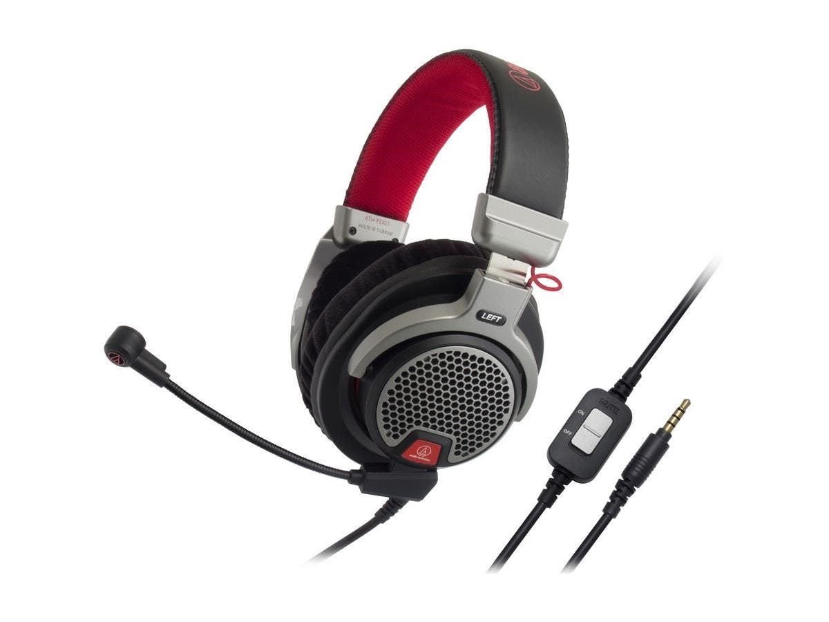 Audio-Technica ATH-PDG1 Premium Gaming Headset - Stereo - Mini-phone - Wired - 39 Ohm - 20 Hz - 20 kHz - Gold Plated - Over-the-head - Binaural - Circumaural-Large-Image-1