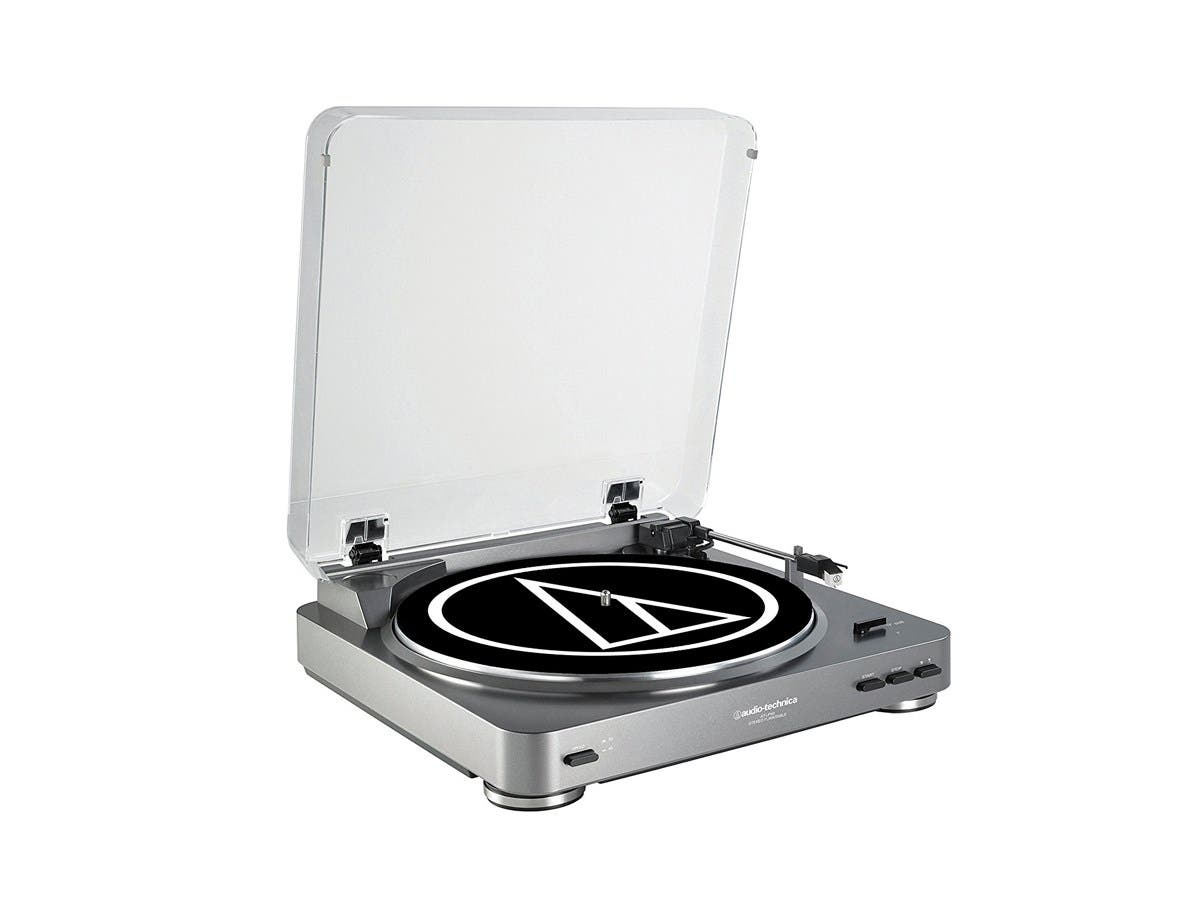 Audio Technica  Fully Automatic Stereo Turntable System - Silver - AT-LP60-Large-Image-1