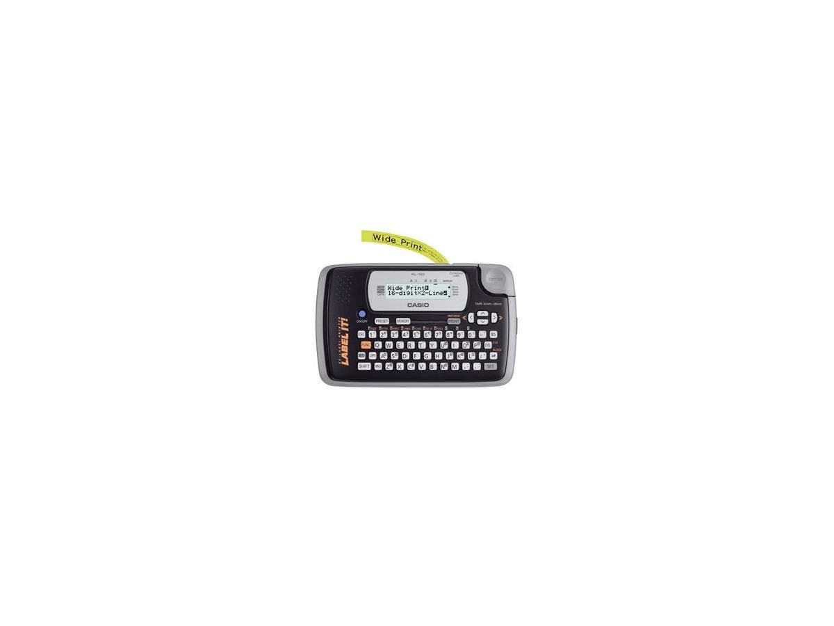 Casio KL-120 Label Maker - 6mm/s - Thermal Transfer - 200 dpi Auto Power OFF