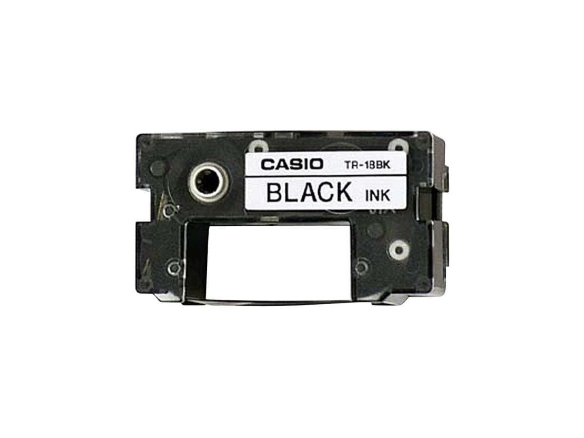Casio Black Ink Ribbon Tape - Black - Thermal Transfer - 50 Page
