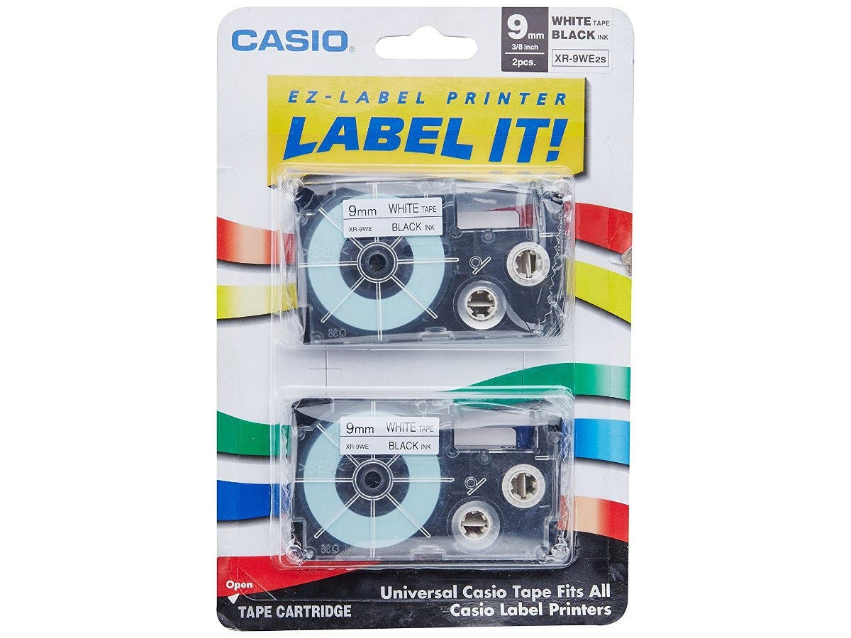 "Casio White Tape - 0.35"" - 1 x Tape-Large-Image-1"