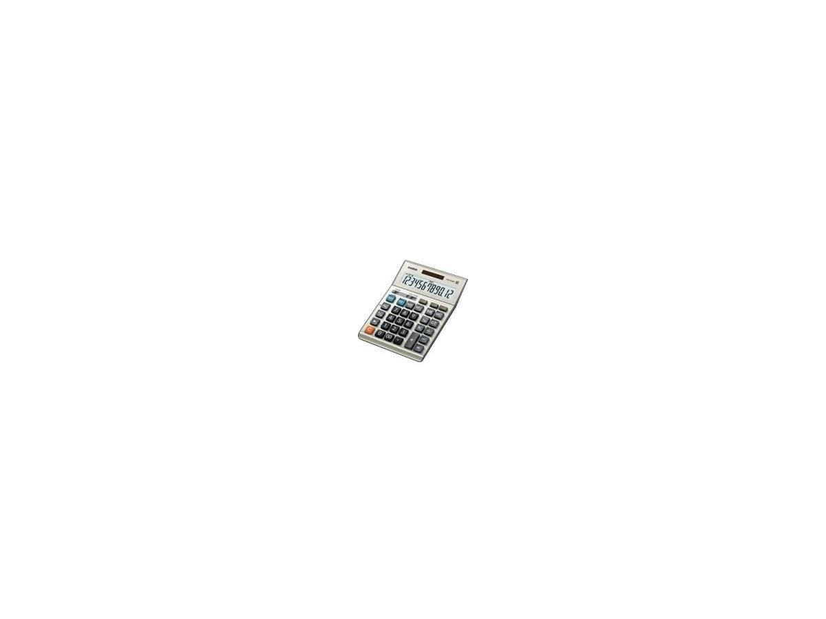 "Casio DM-1200BM Simple Calculator - Extra Large Display, Key Rollover, Dual Power, Durable, Easy-to-read Display - Battery/Solar Powered - 1.4"" x 6.1"" x 8.2"" - Plastic, Metal-Large-Image-1"