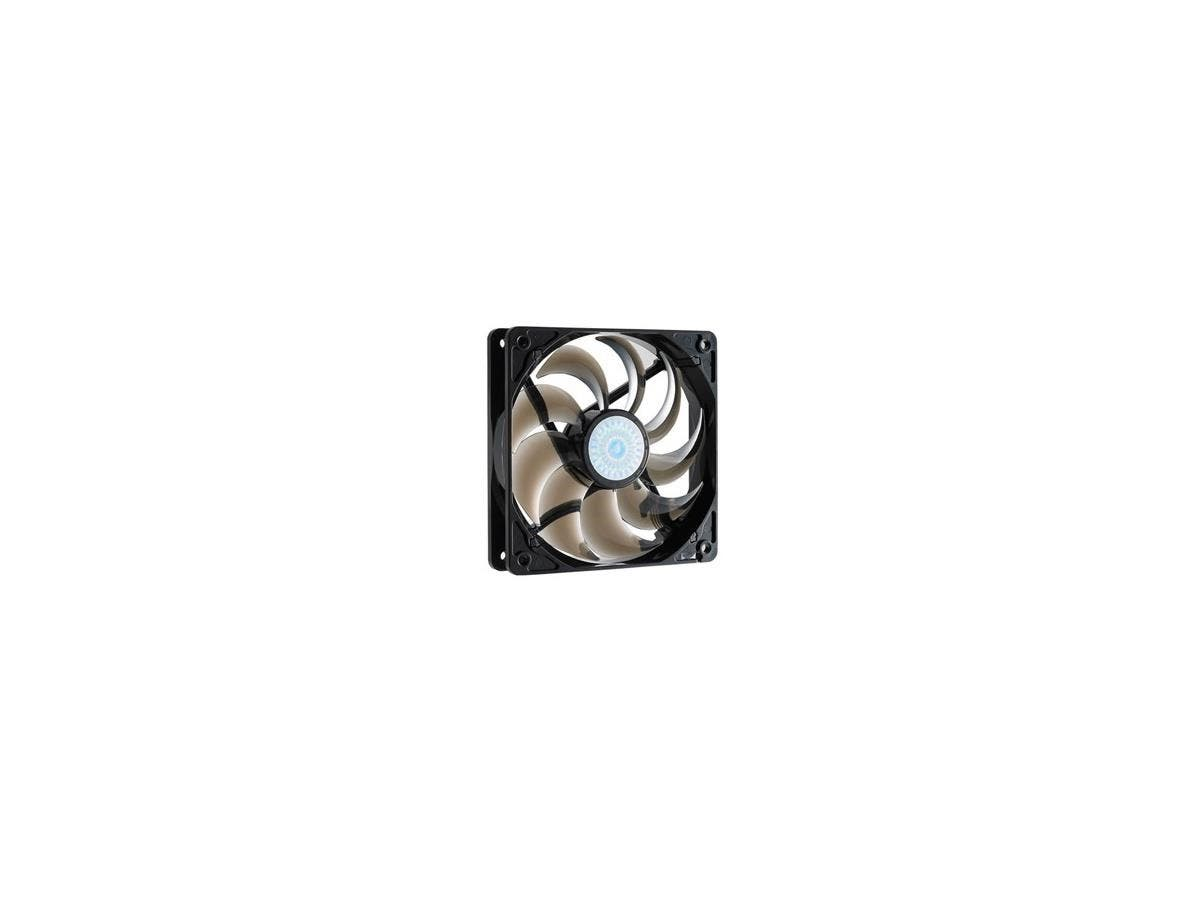 Cooler Master SickleFlow 120 - Sleeve Bearing 120mm Silent Fan for Computer Cases, CPU Coolers, and Radiators (Smoke Color) - Smoke Color, 120x120x25 mm, 2000 RPM, 69 CFM air flow, 19 dBA noise level,-Large-Image-1