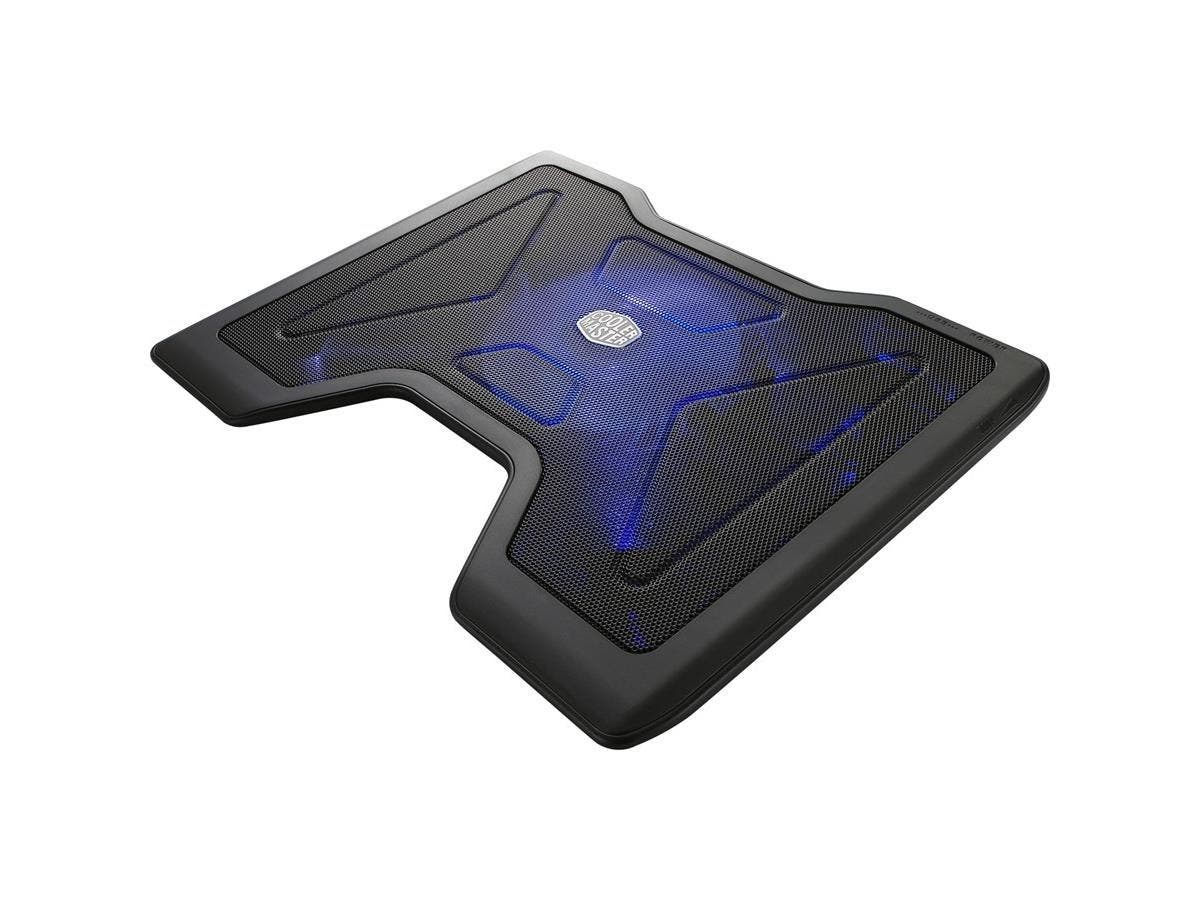 """Cooler Master NotePal X2 - Gaming Laptop Cooling Pad with 140mm Blue LED Fan - 1400 rpm - Ball Bearing - Metal, Plastic - 1.7"""" x 14.8"""" x 11.4"""""""