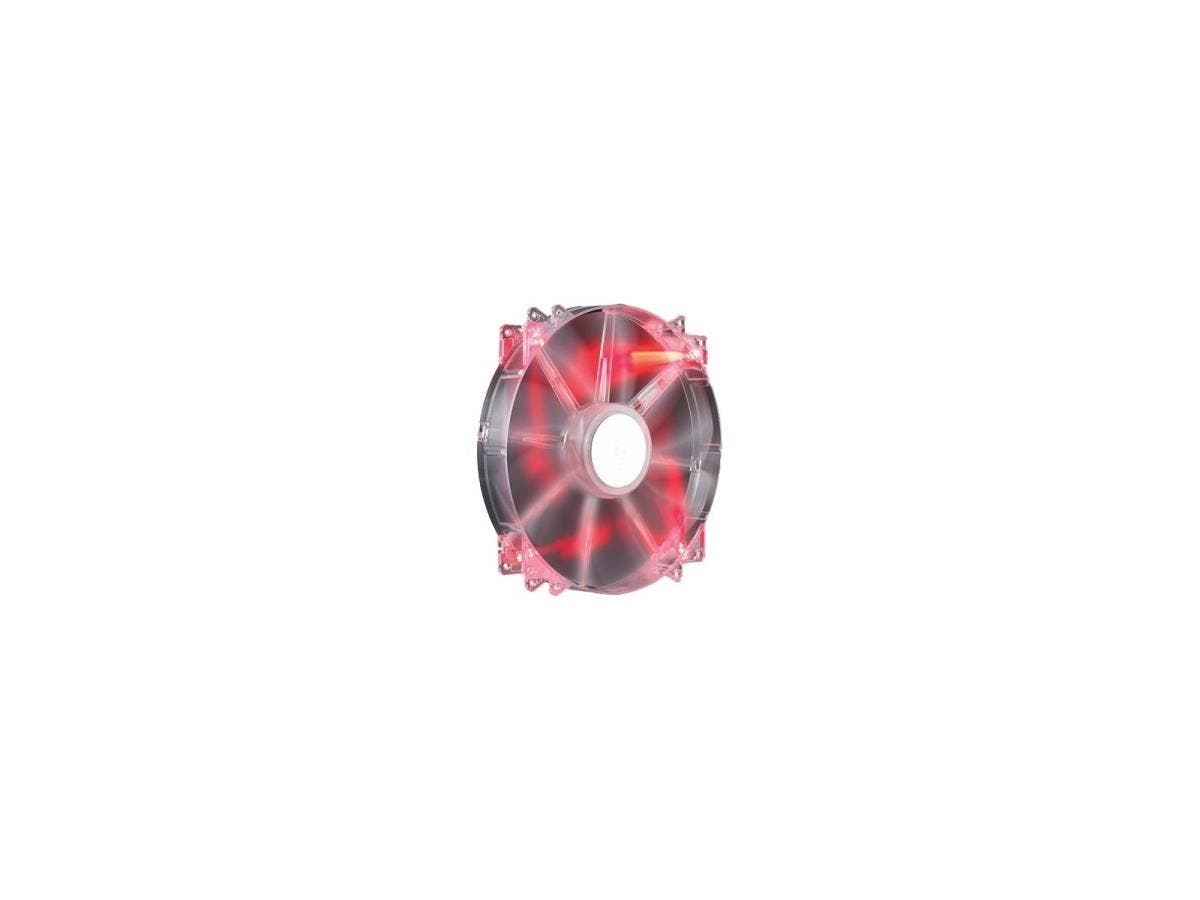 Cooler Master MegaFlow 200 - Sleeve Bearing 200mm Red LED Silent Fan for Computer Cases - Red LED, 200x200x30 mm, 700 RPM speed, 110 CFM air flow, 19 dBA noise level, 30000 hr life, Sleeve Bearing, ~