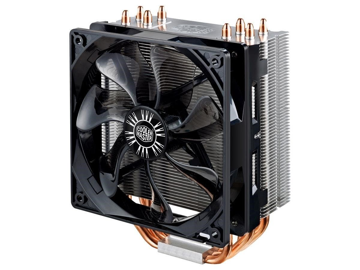 Cooler Master Hyper 212 EVO RR-212E-20PK-R2 Cooling Fan/Heatsink - 1 x 120 mm - 2000 rpm - Long Life Sleeve Bearing - Socket R LGA-2011, Socket B LGA-1366, Socket H LGA-1156, Socket H2 LGA-1155, Socke-Large-Image-1