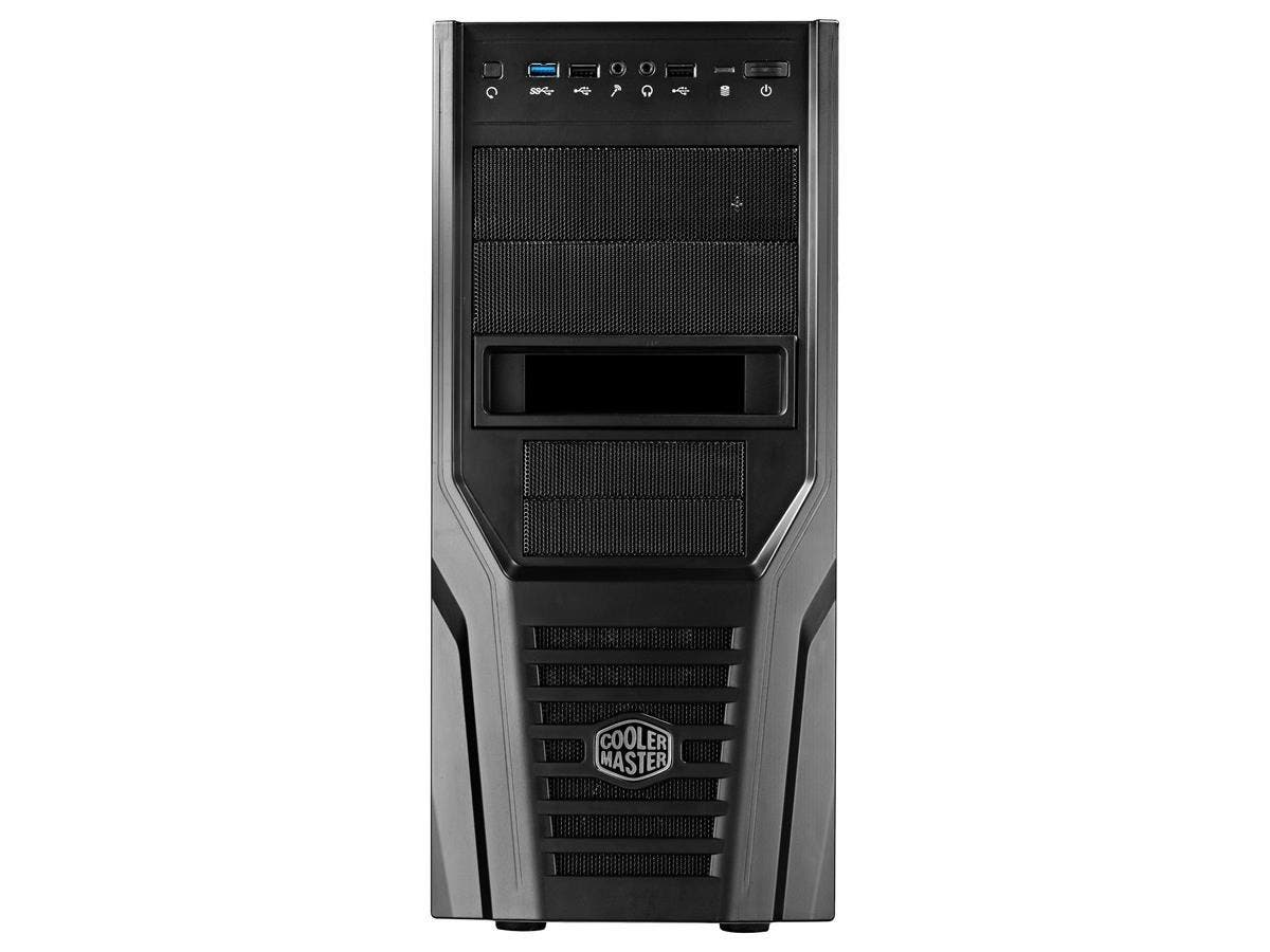 Cooler Master Elite 431 Plus RC-431P-KWN2 System Cabinet - Mid-tower - Black - Steel, Plastic - 10 x Bay - 1 x Fan(s) Installed - ATX, Micro ATX Motherboard Supported - 11.02 lb - 5 x Fan(s) Supported