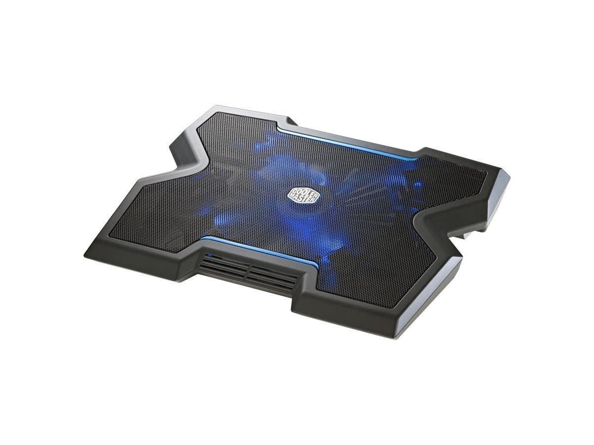 "Cooler Master NotePal X3 - Gaming Laptop Cooling Pad with 200mm Blue LED Fan - 1 Fan(s) - 850 rpm - Metal, Plastic, Rubber - USB Hub - 2.8"" x 15.7"" x 12.2"" - Black"