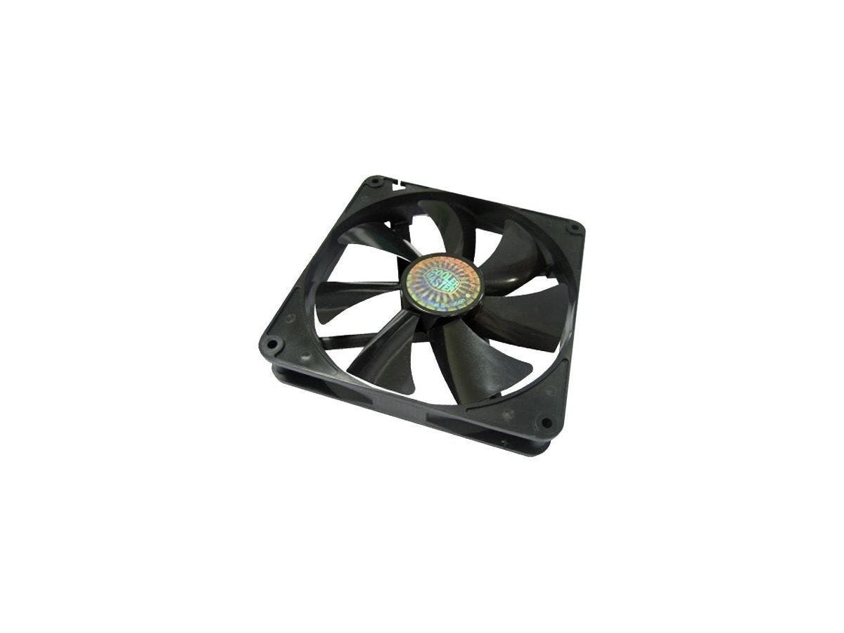 Cooler Master Sleeve Bearing 140mm Silent Fan for Computer Cases and Radiators - 140x140x25 mm, 1000 RPM speed, 60.9 CFM air flow, 16 dBA noise level, Sleeve Bearing, ~ 0.8 mm H2O air pressure, 3 pin -Large-Image-1
