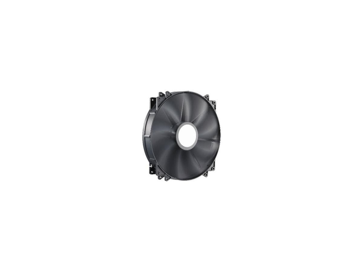 Cooler Master MegaFlow 200 - Sleeve Bearing 200mm Silent Fan for Computer Cases (Black) - 200x200x30 mm, 700 RPM speed, 110 CFM air flow, 19 dBA noise level, 30,000 hour lifespan, Sleeve Bearing, ~ 0.-Large-Image-1