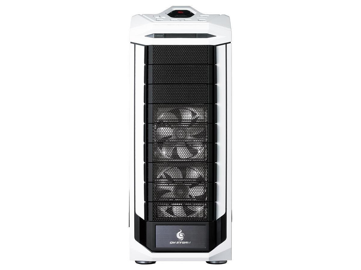 CM Storm Stryker SGC-5000W-KWN1 System Cabinet - Full-tower - Black, White - Steel - 14 x Bay - 4 x Fan(s) Installed - Micro ATX, ATX, XL-ATX Motherboard Supported - 30.20 lb - 7 x Fan(s) Supported -