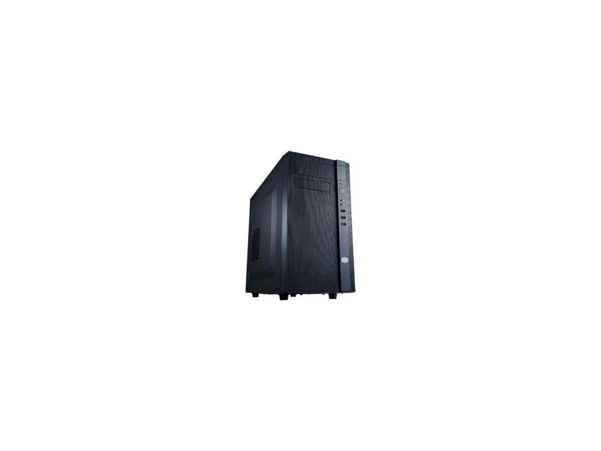 Cooler Master N200 System Cabinet - Mini-tower - Midnight Black - Steel, Plastic - 6 x Bay - 2 x Fan(s) Installed - Micro ATX, Mini ITX Motherboard Supported - 9.48 lb - 5 x Fan(s) Supported - 1 x Ext-Large-Image-1