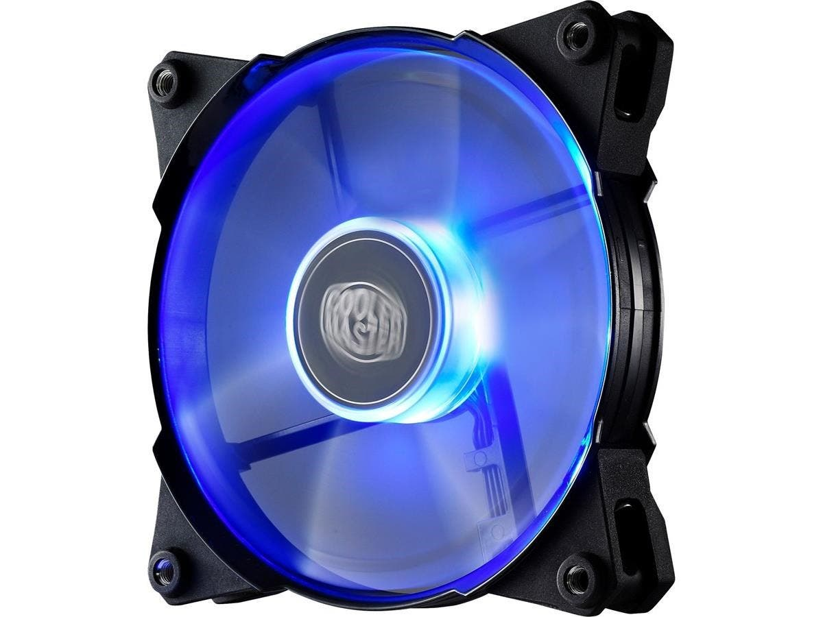 Cooler Master JetFlo 120 - POM Bearing 120mm Blue LED High Performance Silent Fan for Computer Cases, CPU Coolers, and Radiators - Cooler Master JetFlo 120-Large-Image-1