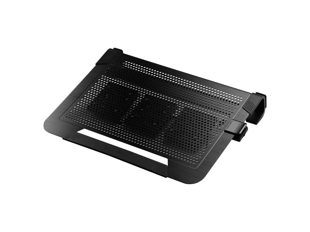 "Cooler Master NotePal U3 PLUS - Laptop Cooling Pad with 3 Configurable High Performance Fans - 3 Fan(s) - 1800 rpm - Aluminum, Plastic, Rubber - Cable Manager - 3"" x 17.1"" x 13.1"" - Black-Large-Image-1"