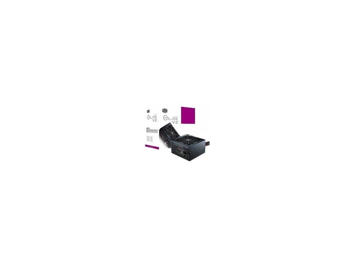 Cooler Master Elite V2 550W - ATX12V/EPS12V - 110 V AC, 220 V AC Input Voltage - 3.3 V DC, 5 V DC, 12 V DC, 12 V DC, -12 V DC, 5 V DC Output Voltage - 1 Fans - Internal - 75% Efficiency - 550 W