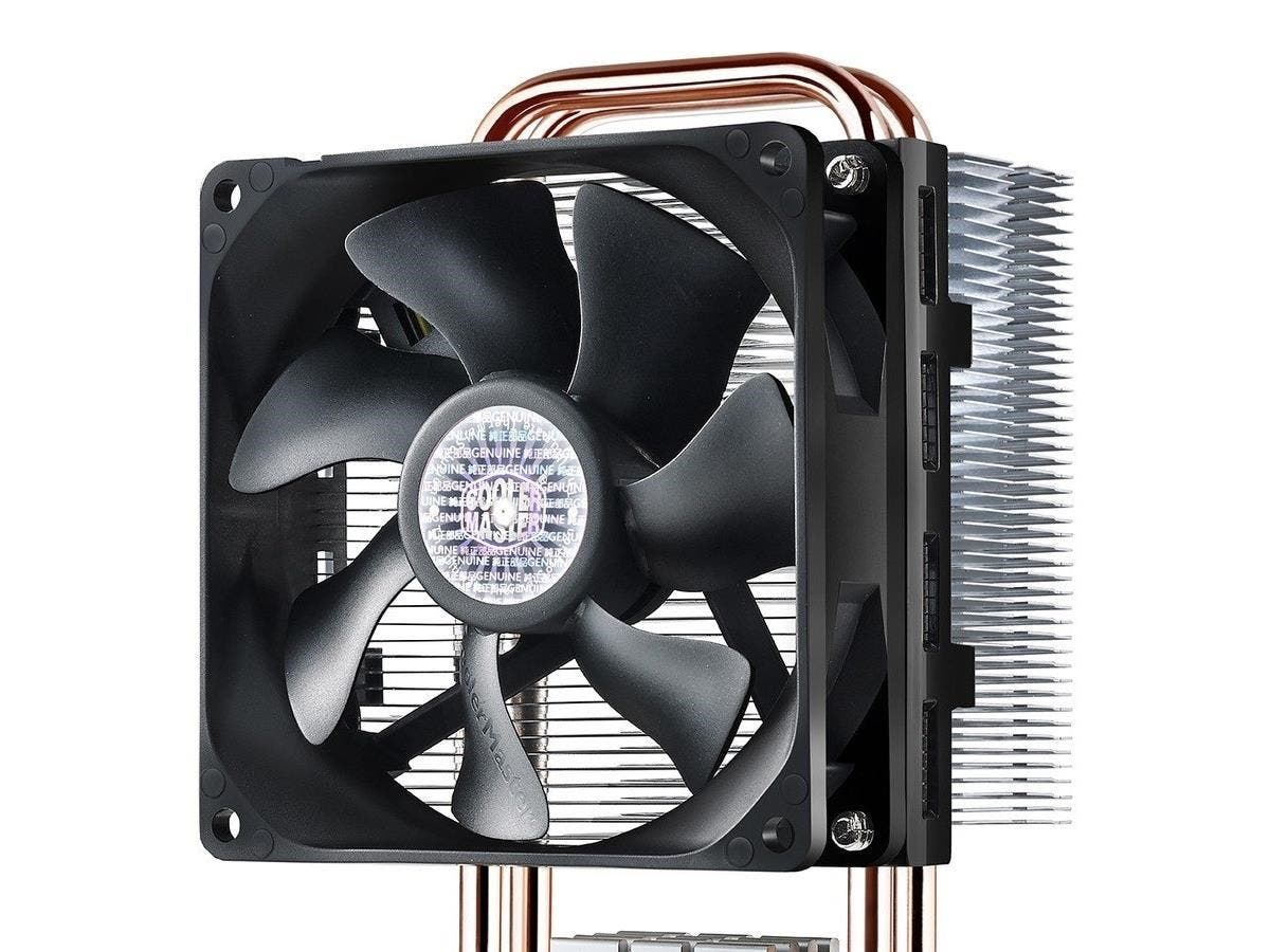 Cooler Master Hyper T2 - Compact CPU Cooler with Dual Looped Direct Contact Heatpipes - 1 x 92 mm - 2800 rpm - 1 x 54.8 CFM - Long Life Sleeve Bearing - Socket H3 LGA-1150, Socket H LGA-1156, Socket H-Large-Image-1