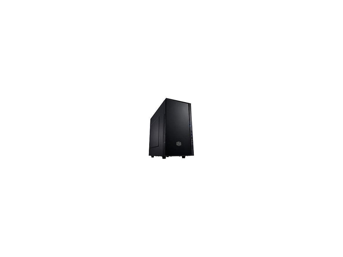 "Cooler Master Silencio 352 System Cabinet - Mini-tower - Midnight Black - Polymer, Steel - 8 x Bay - 1 x 4.72"" x Fan(s) Installed - 0 - Micro ATX, Mini ITX Motherboard Supported - 10.36 lb"