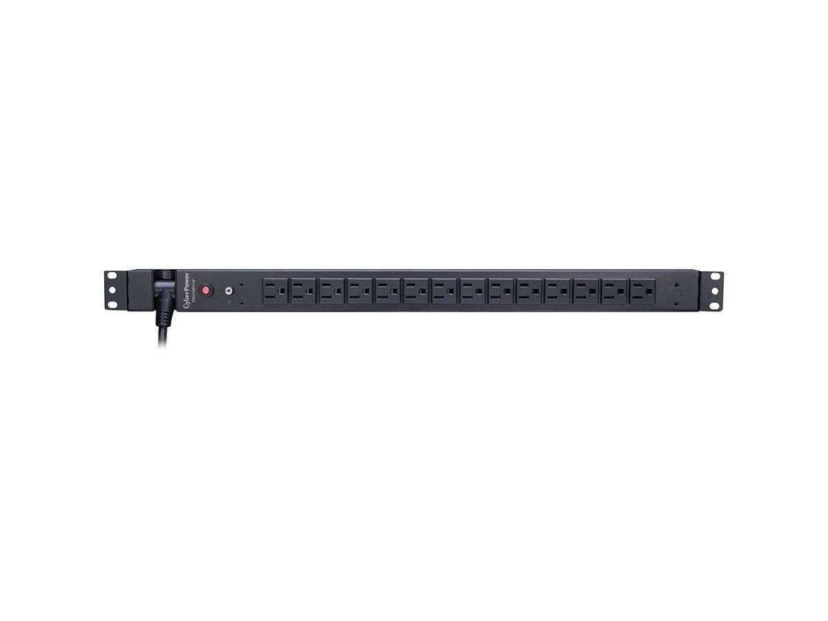 CyberPower Basic PDU15BV14F 14-Outlets PDU - 14 x NEMA 5-15R - Zero U Vertical Rackmount-Large-Image-1