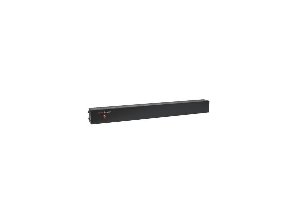 CyberPower Basic PDU20B12R 12-Outlets PDU - 12 x NEMA 5-20R - 1U Rack-mountable, Zero U Vertical Rackmount
