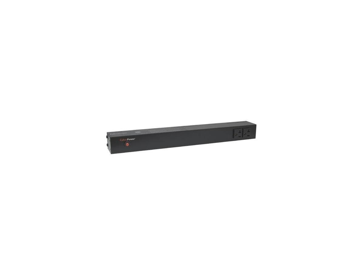 CyberPower Basic PDU20BT2F12R 14-Outlets PDU - 14 x NEMA 5-20R - 1U Rack-mountable, Zero U Vertical Rackmount-Large-Image-1