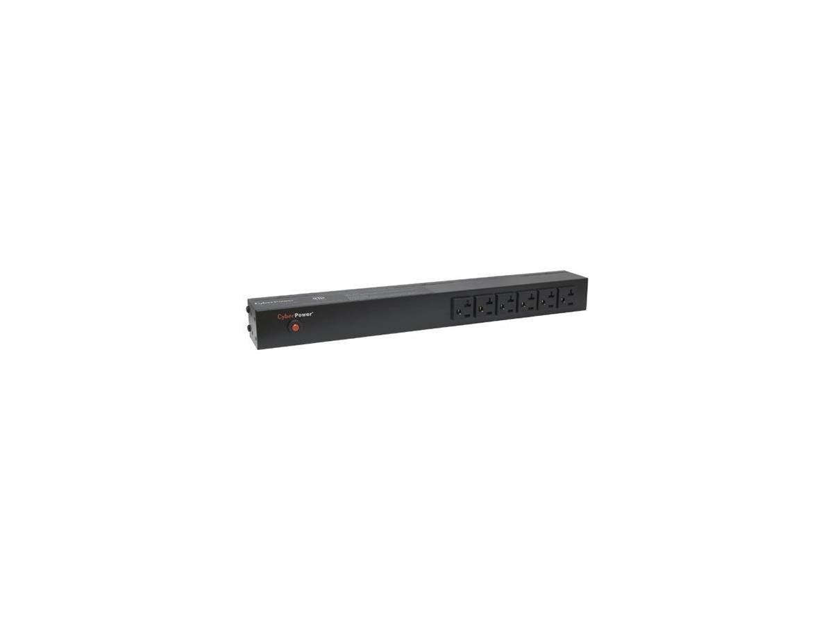 CyberPower Basic PDU20BT6F12R 18-Outlets PDU - 18 x NEMA 5-20R - 1U Rack-mountable, Zero U Vertical Rackmount-Large-Image-1