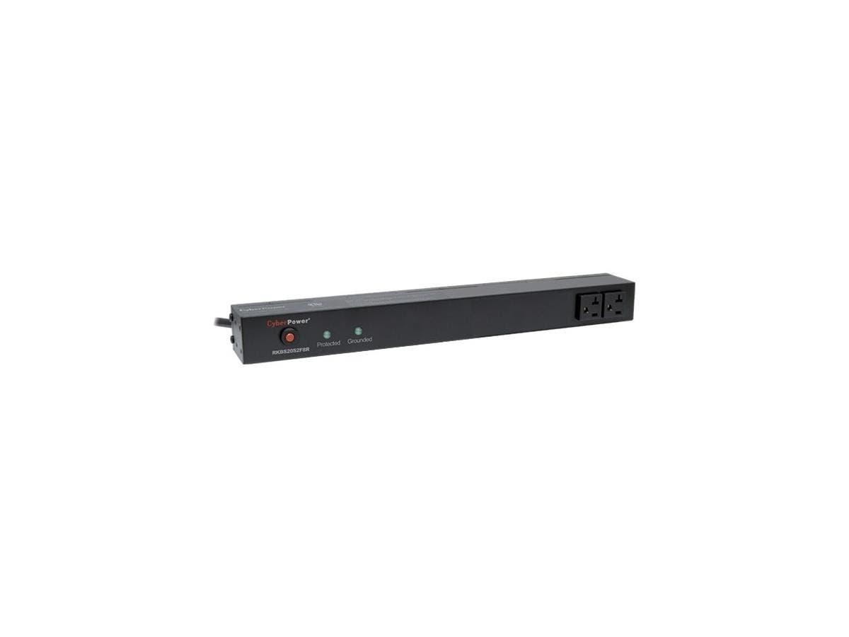 CyberPower Rackbar Surge Suppressor RM 1U RKBS20S2F8R 20A 10-Outlet - Receptacles: 10 x NEMA 5-20R - 1800J