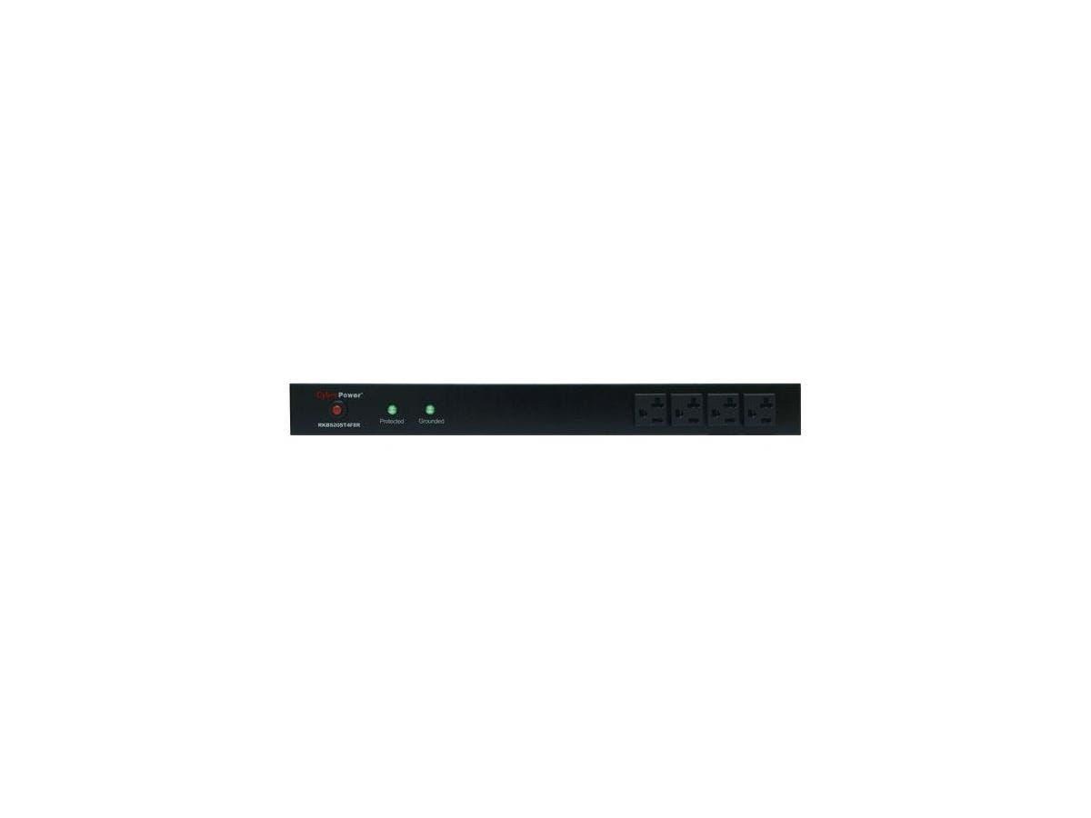 CyberPower Rackbar Surge Suppressor RM 1U RKBS20ST4F8R 20A 12-Outlet - Receptacles: 12 x NEMA 5-20R - 1800J
