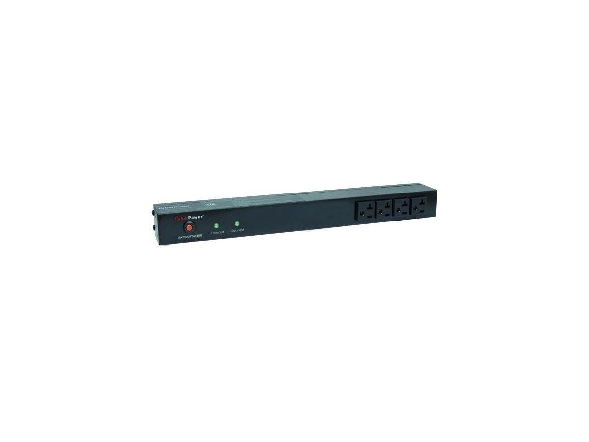 CyberPower Rackbar Surge Suppressor RM 1U RKBS20ST4F10R 20A 14-Outlet - Receptacles: 14 x NEMA 5-20R - 1800J