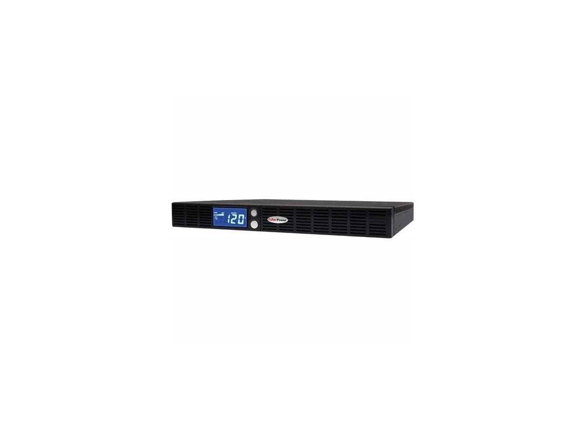 CyberPower Smart App Intelligent LCD OR700LCDRM1U 700VA UPS - 700VA/400W - 3 Minute Full Load - 4 x NEMA 5-15R - Battery/Surge-protected, 2 x NEMA 5-15R - Surge-protected-Large-Image-1