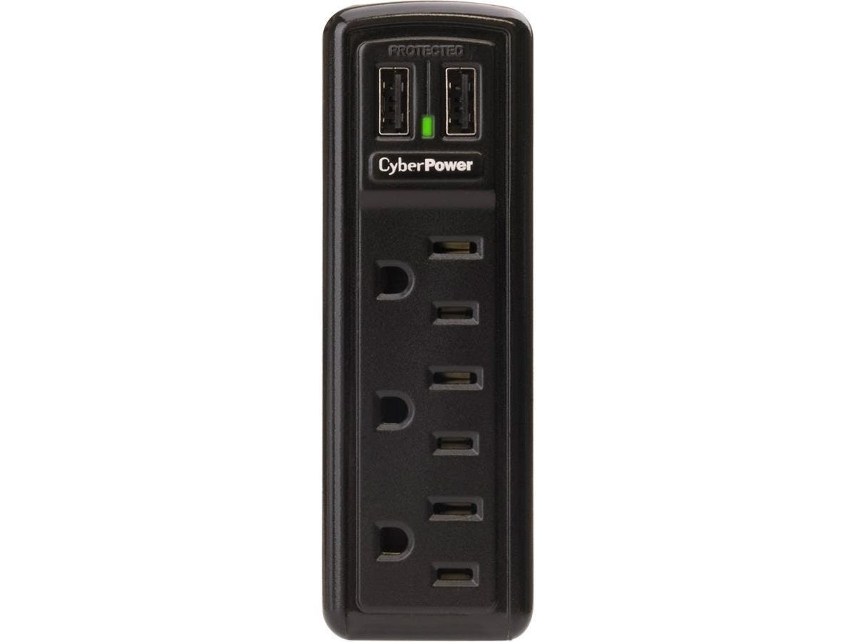 CSP300WU 3-Outlet Professional Surge Suppressor 2 USB Charging Ports - Receptacles: 3 x NEMA 5-15R, 2 x USB - 918J-Large-Image-1