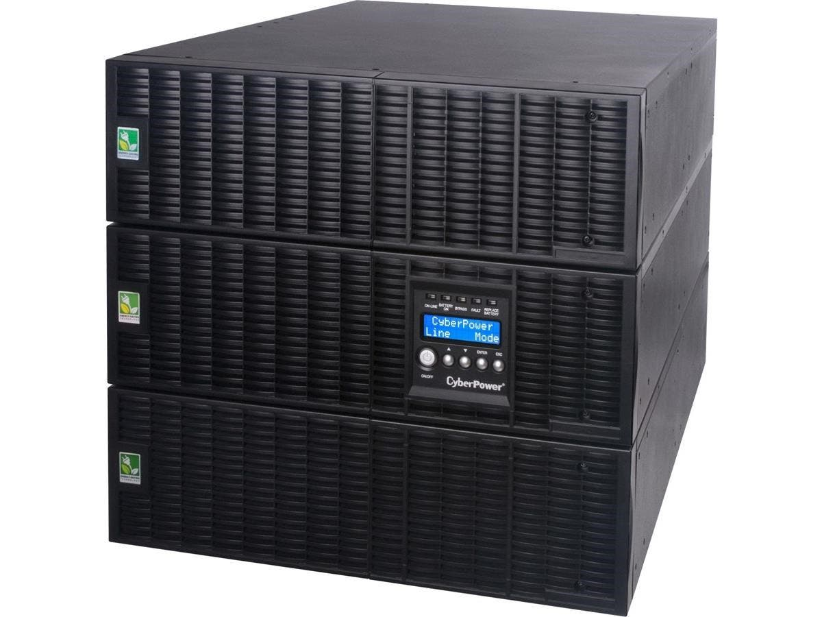 CyberPower Smart App Online OL10000RT3UTF 10000VA TF 120V, 200-240V Sine Wave LCD UPS - 4 Minute Full Load - 10kVA - SNMP/HTTP Remote Monitoring-Large-Image-1